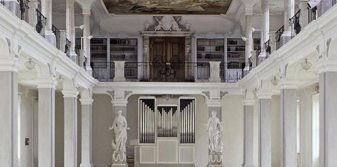 Bibliothekssaal Kloster Ochsenhausen; Foto: Staatliche Schlösser und Gärten Baden-Württemberg, Steffen Hauswirth