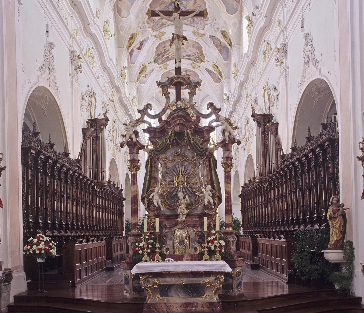 Chorgestühl der Klosterkirche Ochsenhausen; Foto: Staatliche Schlösser und Gärten Baden-Württemberg, Steffen Hauswirth