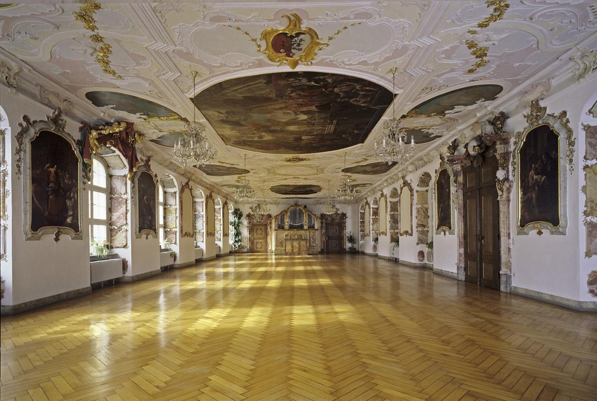 Refektorium im Kloster Ochsenhausen; Foto: Staatliche Schlösser und Gärten Baden-Württemberg, Steffen Hauswirth
