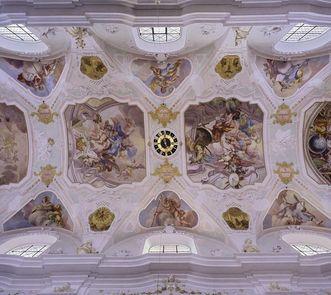 Deckenfresken im Chor der Klosterkirche Ochsenhausen