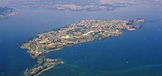 Blick von Nordost auf die Insel Reichenau