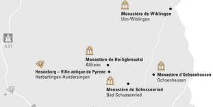 """Carte de région """"Oberschwaben et Ulm"""""""