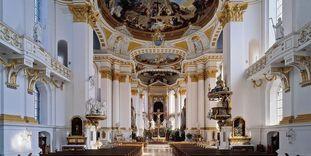 Innenansicht der Klosterkirche Wiblingen