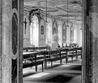 Foto aus dem Jahr 1928 vom Refektorium von Kloster Ochsenhausen; Foto: Landesmedienzentrum Baden-Württemberg, Robert Bothner