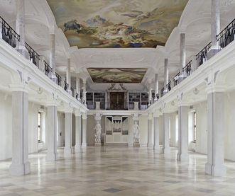 Bibliothekssaal von Kloster Ochsenhausen; Foto: Staatliche Schlösser und Gärten Baden-Württemberg, Steffen Hauswirth