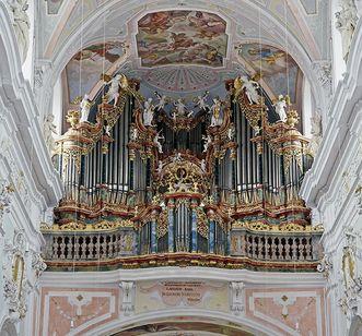 Gabler-Orgel in der Klosterkirche von Kloster Ochsenhausen