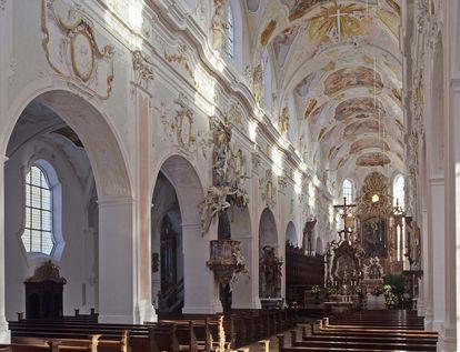 Die Klosterkirche St. Georg von innen; Foto: Staatliche Schlösser und Gärten Baden-Württemberg, Steffen Hauswirth