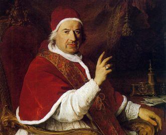 Ölgemälde von Papst Benedikt XIV.