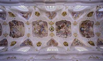 Deckenfresko im Hauptschiff der Klosterkirche von Kloster Ochsenhausen, 1727/1729; Foto: Staatliche Schlösser und Gärten Baden-Württemberg, Steffen Hauswirth