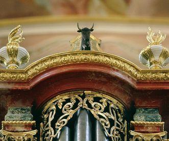 Öchsleregister an der Gabler-Orgel in der Klosterkirche von Kloster Ochsenhausen